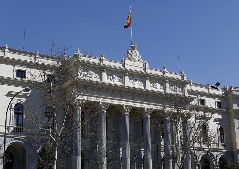 La bolsa de Madrid, España, 3 de marzo de 2016